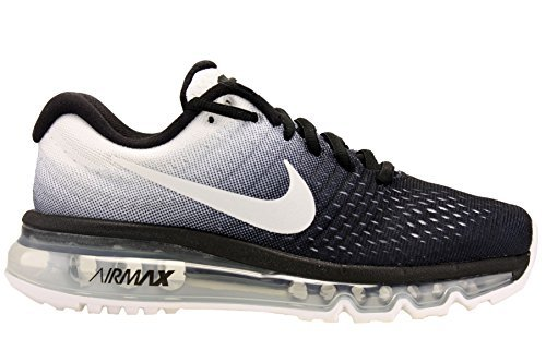 NIKE Womens Air Max 2017 Running Shoes BlackWhite 849560 010 Size 7