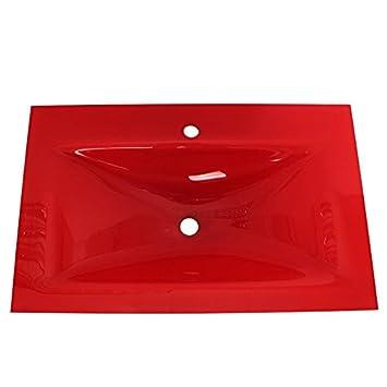 Vasque en verre trempé meuble lavabo-salle de bains art au ...