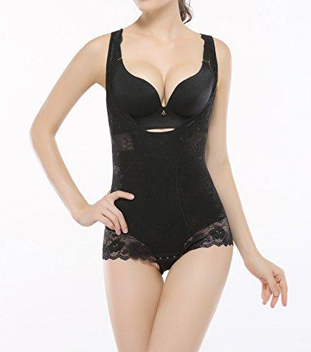 KSKshape Lace Body Shaper Open Bust Shapewear Tummy Slimmer Bodysuit for women