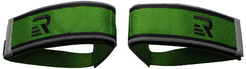 Retrospec Bicycles Fixed-Gear Track BMX-Style Foot Retention FGFS Velcro Straps with Reflective Fabric, Green