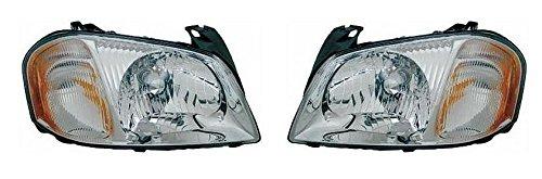 01 02 03 04 Mazda Tribute Headlamp Headlight Pair Set Driver and Passenger