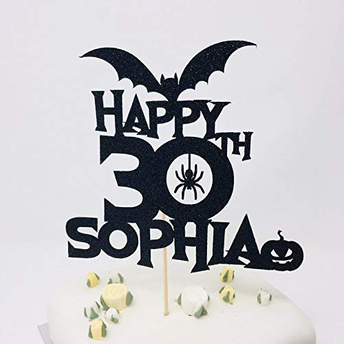 Theme Names For Halloween Party (Personalized Name and Age Halloween Birthday Cake Topper. Halloween Theme Party. For All Ages, 18th, 21st, 30th, 40th, 50th, 60th, 70th,)