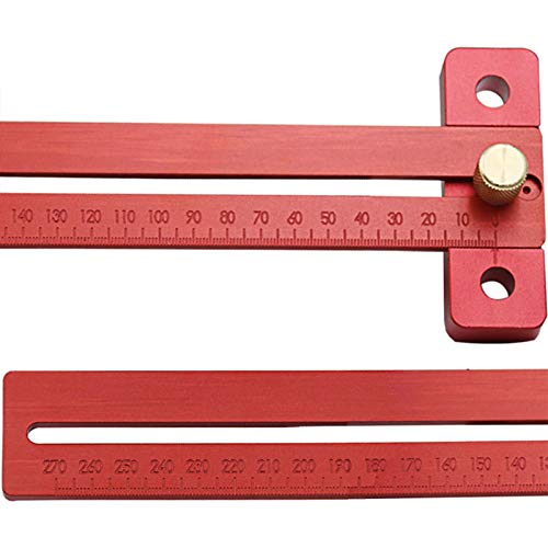 TOOGOO Aluminum Alloy crosd ruler woodworking T type Scribe Woodworking Ruler