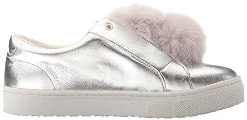 Edelman Soft Metallic Women's Silver Sam Leather Sneakers Leya TwqCCv