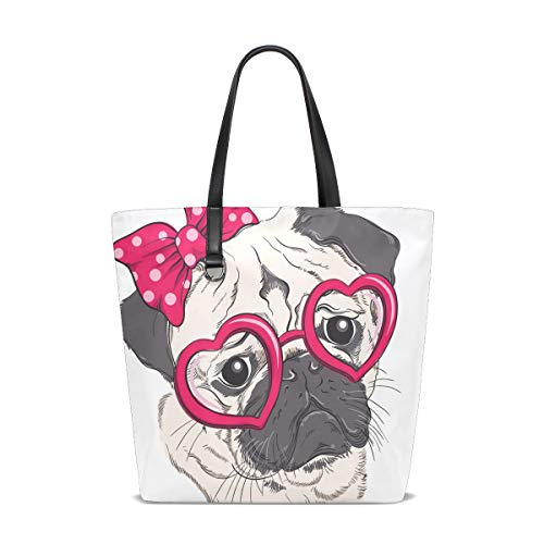 001 Fashion Porter Unique Dog Pug Bennigiry Femme Sac Pour Taille Tote L'épaule À Portrait 5TYq8g