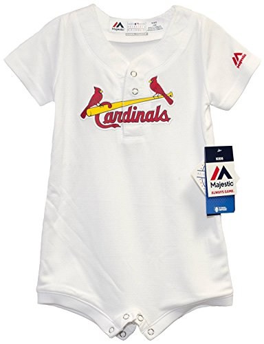 - St. Louis Cardinals White Home Cool Base Romper Jersey 12 Months
