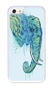 Zheng caseApple Iphone 5C Case,WENJORS Unique Elephant Portrait Soft Case Protective Shell Cell Phone Cover For Apple Iphone 5C - TPU White