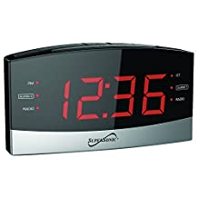 SuperSonic Digital Bluetooth AM/FM Radio Alarm Clock Radio