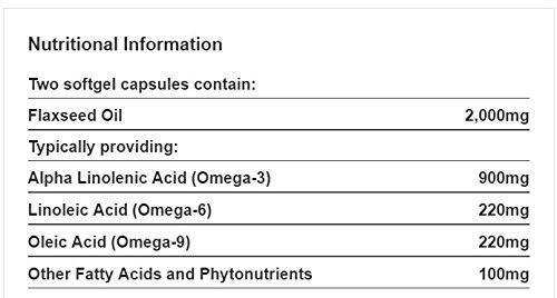 Holland & Barrett Vegetarian Flaxseed Linseed Oil 60 Capsules1000mg/Omega-3,6&9