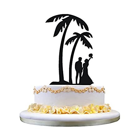41WiS0GwafL._SS450_ The Best Palm Tree Wedding Cake Toppers