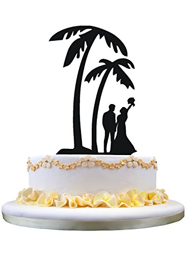 41WiS0GwafL The Best Palm Tree Wedding Cake Toppers