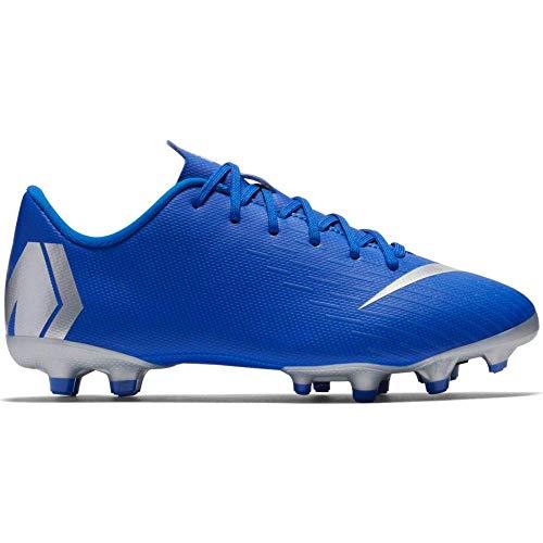 promo code 4830c f492e Nike Vapor 12 Academy Kid s Firm Ground Soccer Cleats (1.5 M US Little Kid,  Racer Blue Silver)