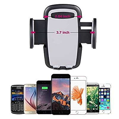 Generic Phone Mount Holder, 360 Degree Adjustable Air Vent Car Mount with Quick Release Button, Compatible with iPhone 8 8 Plus 7 7 Plus 6s 6 Plus 6 5s and Other Smartphones and GPS Devices