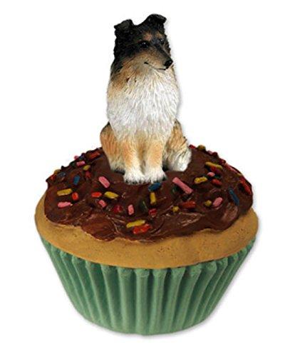 Tricolor Sheltie/Shetland Sheepdog Cupcake Trinket-Keepsake Box