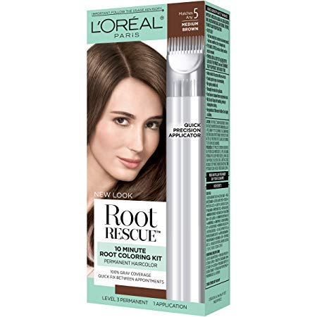 L'OREAL Paris Root Rescue 10 Minute Root Coloring Kit, Medium Brown 5 (Pack of 3) by L'Oreal Paris