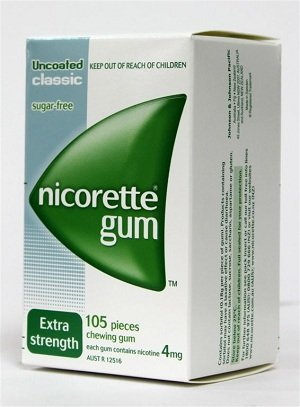 Nicorette Nicotine Gum Classic 3 Boxes 315 Pieces 4mg