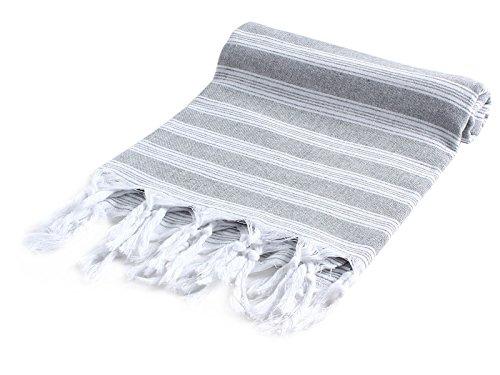 Cacala Light Pestemal Turkish Bath Towels 37x70 for Bath Hamam Unisex  Grey (Hamam Turkish Bath)