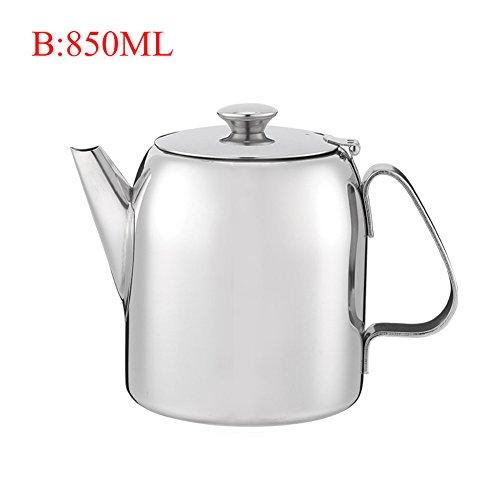 Price comparison product image Tea Jug 304 Stainless Steel Coffee Pot Short Spout Coffee Plunger,  Juice Milk Tea insulation pot (30 OZ)