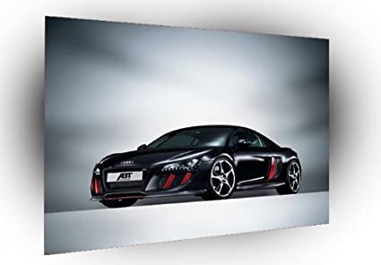 Cars Audi R8 Black Abt Front Audi Poster Photo Art A4 Small 11 5 X