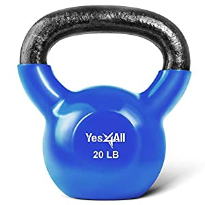 Well-Being-Matters 41WiUDMdnJL._SS300_ Yes4All Vinyl Coated Kettlebells – Weight Available: 5, 10, 15, 20, 25, 30, 35, 40, 45, 50 lbs