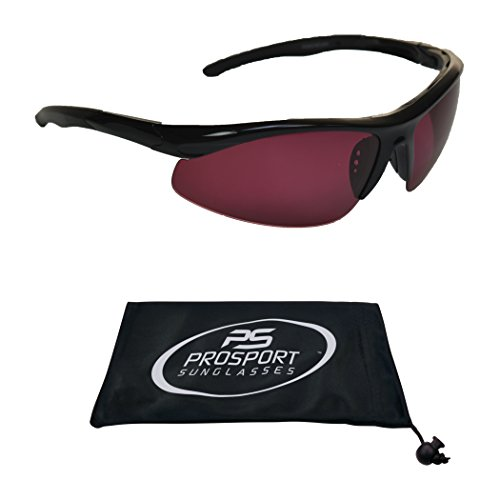 Mens Rose Lens Sunglasses - TR90 Rose Tinted Polarized Sunglasses. Unbreakable