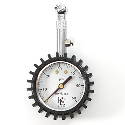 RE LAB Inc - Compact Tire Pressure Gauge With Integrated Hold Valve - 60PSI