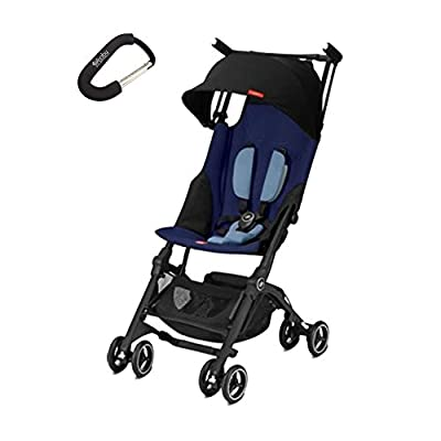 2018 GB Pockit + Plus Stroller w/Cybex Car Seat Adapter Included Travel Compact Reclines Lightweight with Bonus Baby Gear Xpo Stroller Hook by GB that we recomend personally.