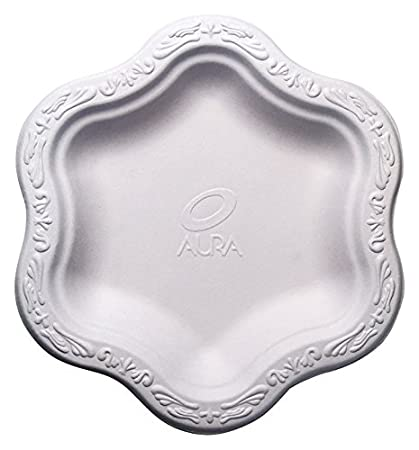 [50 COUNT] 7\u0026quot; inch Disposable Floral Small Premium White Plates - Acanthus Collection  sc 1 st  Amazon.com & Amazon.com: [50 COUNT] 7\