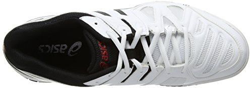 ASICS Gel-Game 5 - Zapatillas de deporte para hombre Blanco (White / Onyx / Chinese Red 199)