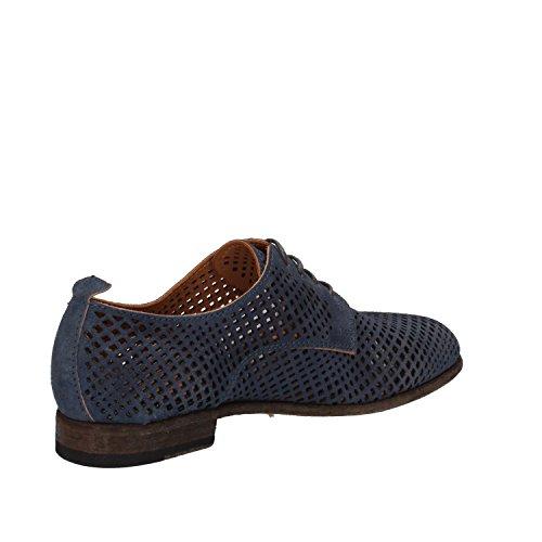 MOMA - Zapatos de cordones de ante para mujer turquesa