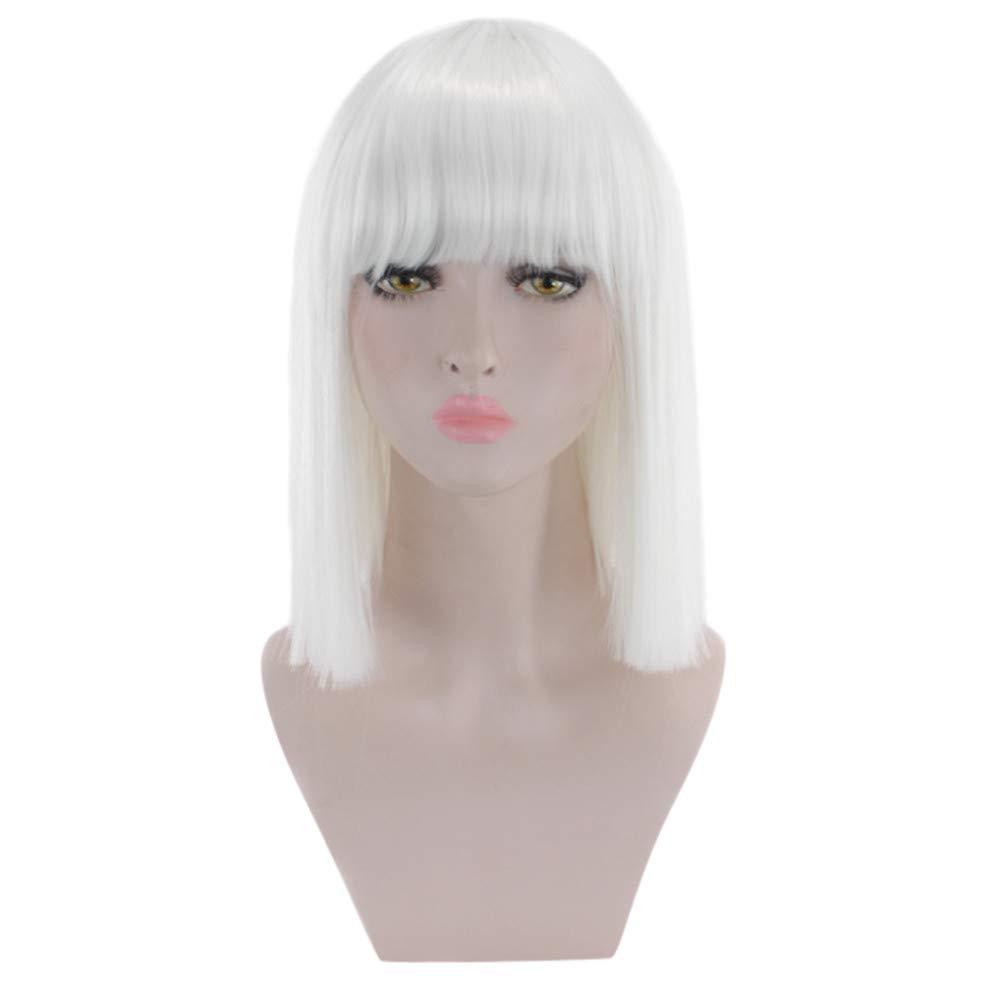 TianWlio - Peluca corta para mujer, pelo sintético resistente al calor, color gris y negro: Amazon.es: Belleza