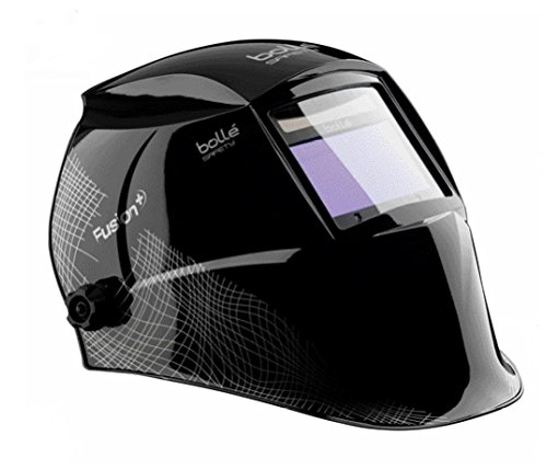 Bolle 40121 Safety Fusion+ Welding Helmet with Electo-Optical Filter, Black