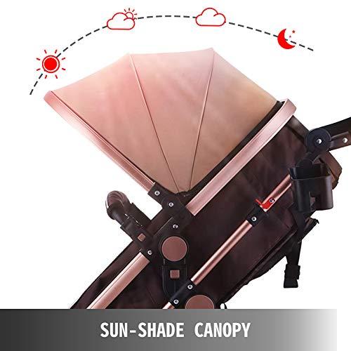 41WiWSIK uL - VEVOR Baby Stroller 2 In 1 Stroller Bassinet Stroller Foldable Anti-Shock Newborn Stroller Baby Carriage Stroller Luxury Baby Trend Stroller Stroller For Baby Pram Stroller
