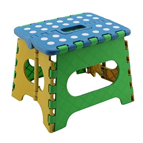 TOOGOO(R) Klapphocker Klappsitz Klapptritt 22 x 17 x 18cm Kunststoff bis 150 Kg faltbar