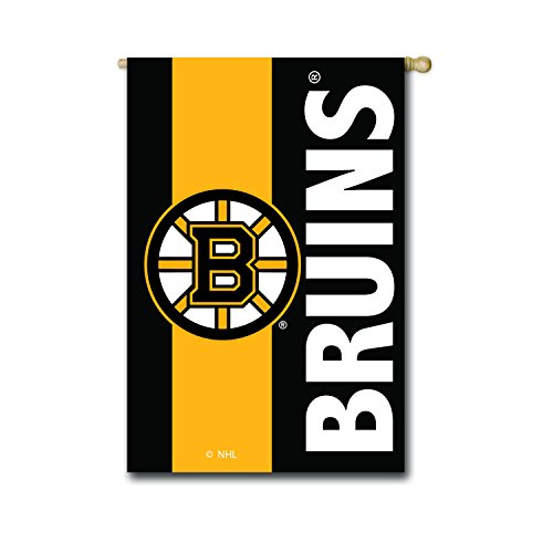 Team Sports America Boston Bruins Outdoor Safe Double-Sided Embroidered Logo Applique House Flag, 28 x 44 inches
