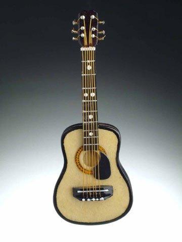 String Guitar with Pick Guard Miniature Replica Magnet, 4 inch