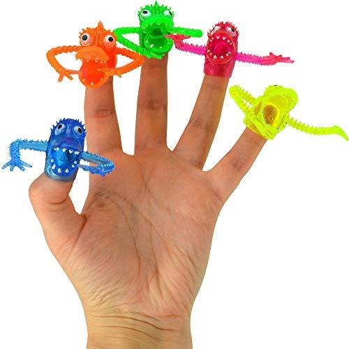 [해외]Kipp Brothers Neon Monster Finger Puppets for Kids - Pack of 24 / Kipp Brothers Neon Monster Finger Puppets for Kids - Pack of 24