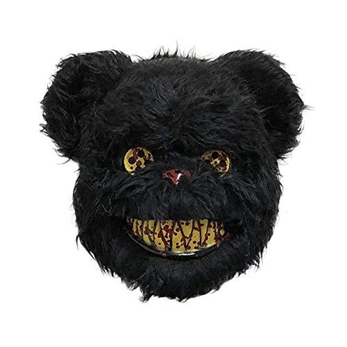 Farm Heroes Saga Halloween (PKRISD Creepy Pig Tiger Animal Plush Mask Party Panda Wolf Bear Shape Mask Kids Festive Halloween Masquerade Dress Up)