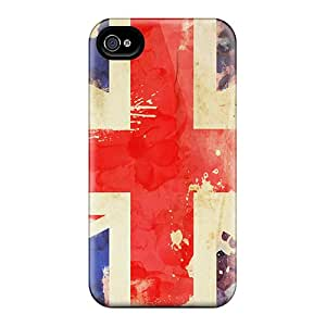 Hot SqJmv30201LHDyi Britain Flag Tpu Case Cover Compatible With Iphone 4/4s