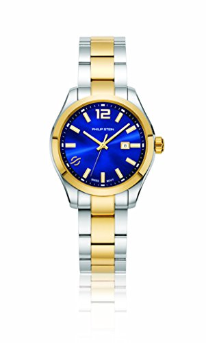 Philip Stein Women's 'Traveler' Swiss Quartz and Stainless Steel Casual Watch, Color:Two Tone (Model: 91TG-CBLMOP-SSTG)