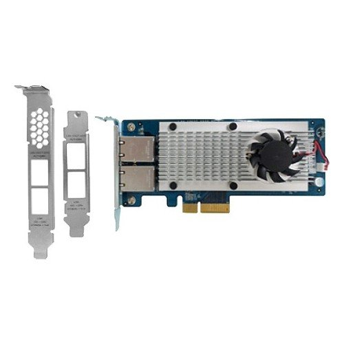 Lan Ports - QNAP Network LAN-10G2T-X550 Dual-Port 10Gbase-T Network Expansion Card Retai