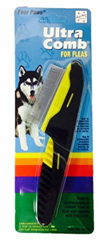 Four Paws Ultra Flea Comb for Dogs and Puppies with Fine Coats