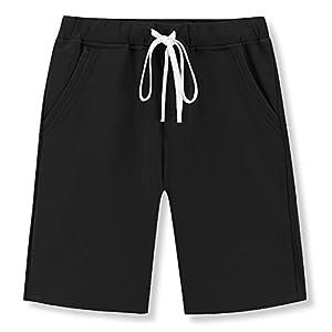 Janmid Men's Casual Classic Fit Cotton Elastic Jogger Gym Shorts