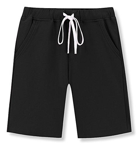 Janmid Mens Casual Classic Fit Cotton Elastic Jogger Gym Shorts