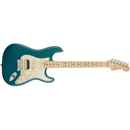 Fender American Elite Stratocaster HSS Shawbucker Maple Fingerboard Electric Guitar Ocean Turquoise Fender Ocean Guitar