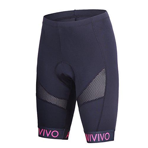 Anivivo 3D Gel Women's Cycling Shorts with Quick Dry Mesh.Girls bike shorts with Bulk Padding (Medium, - Mesh Cycling Shorts Black