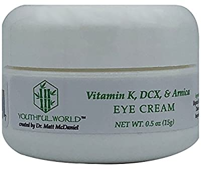 YOUTHFUL.WORLD Eye Cream with Vitamin K, DCX, Arnica, to remove puffiness, wrinkles, and dark circles