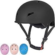 Bike Skateboard Helmet for Kids Youth & Adults, Adjustable Bike Helmet 3 Sizes for Skateboarding Scooter I