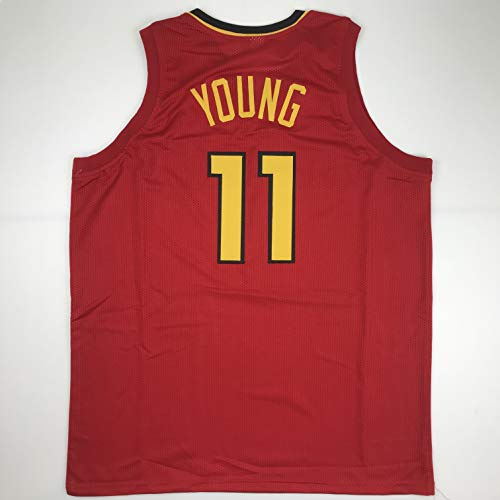 - Unsigned Trae Young Atlanta Red Custom Stitched Basketball Jersey Size Men's XL New No Brands/Logos