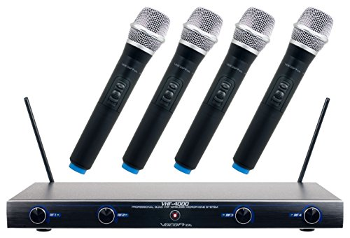 VocoPro VHF4000 Professional Quad VHF Wireless Microphone...